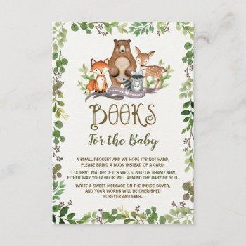 Greenery Woodland Animals Books For Baby Forest Enclosure Card