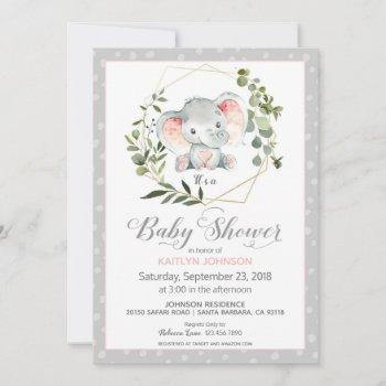 Grey Elephant Modern Baby Shower