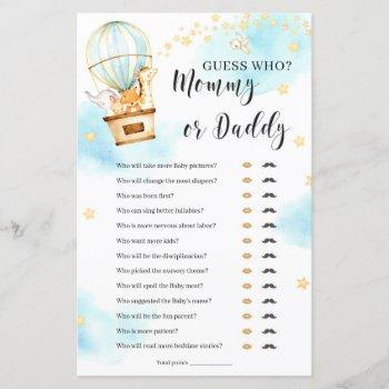 Guess Who Mommy Or Daddy Baby Shower Game