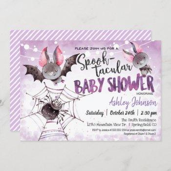 Halloween Baby Shower, Bats Invitation