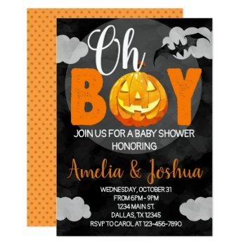 Halloween Baby Shower Invitation Invite