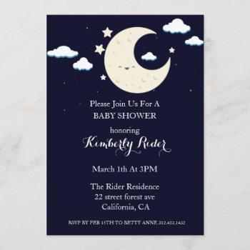 Happy Moon Baby Shower Invitations