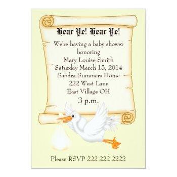 Hear Ye! Baby Shower Invitation