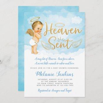Heaven Sent Angel Boy Baby Shower