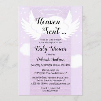 Heaven Sent Angel Wings Baby Shower
