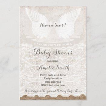 Heaven Sent Silver Taupe Angel Baby Shower