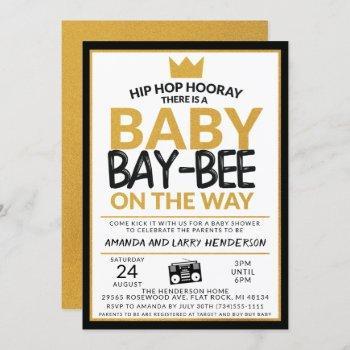 Hip Hop Baby Shower Invitation