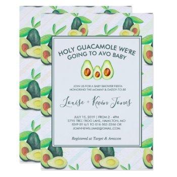 Holy Guacamole | Avocado Baby Shower Invitation
