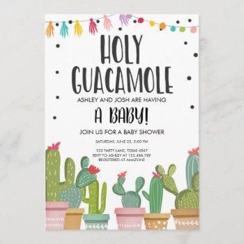 Holy Guacamole Fiesta Baby Shower Invitation