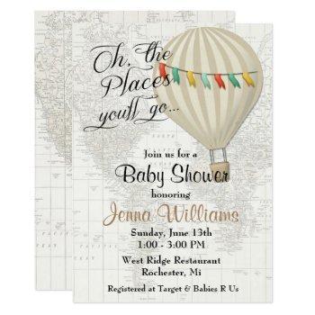 Hot Air Balloon Gender Neutral Baby Shower Invitation