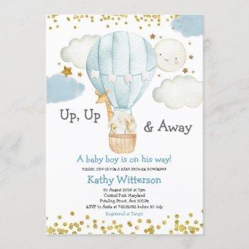 Hot Air Balloon Jungle Animals Boy Baby Shower