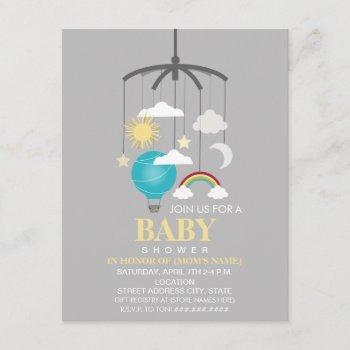 Hot Air Balloon Mobile Boy Modern Baby Shower