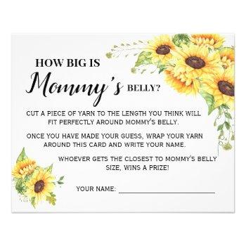 How Big Is Mommy Belly Baby Shower Game
