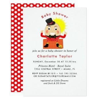Humpty Dumpty Nursery Rhyme Cute  Baby Shower Invitation