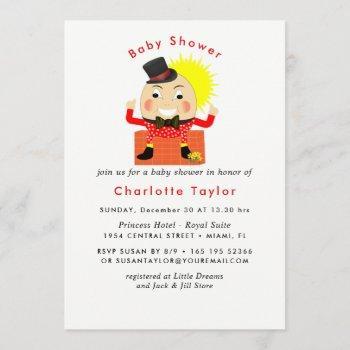 Humpty Dumpty Nursery Rhyme Cute Baby Shower