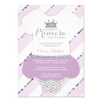 Invitación De Baby Shower Para Una Princes Invitation