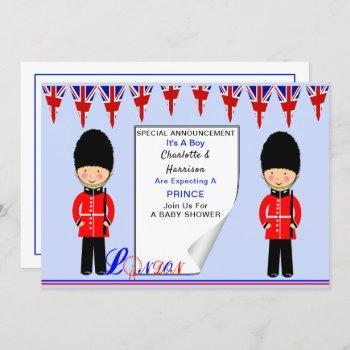 It's A Boy A Royal Prince London Theme Baby Shower Invitation