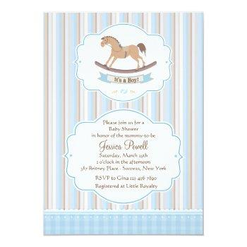 It's A Boy Rocking Horse Shower Invitation