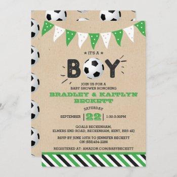 It's A Boy! Soccer Themed Co-ed Baby Shower