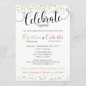 Joint Friends Combined Baby Shower Invitation