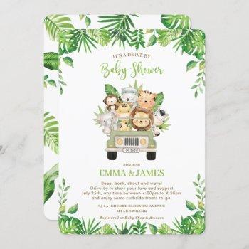 Jungle Animals Drive By Baby Shower Gender Neutral