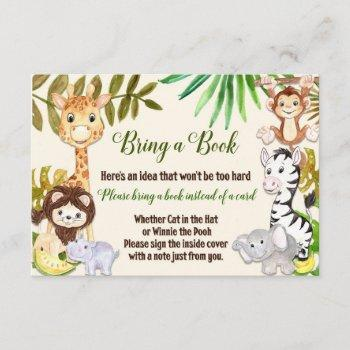 Jungle Bring A Book Card, Safari Bring A Book Card