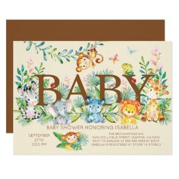 Jungle Gender Neutral Baby Shower Invitation