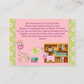 Jungle Jill Book Requests Instead Of A Card#2 100 Enclosure Card