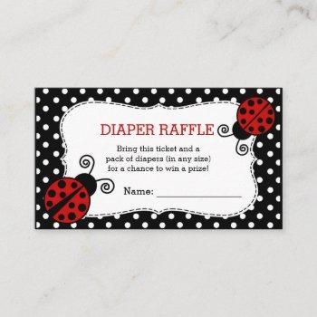 Ladybug Baby Shower Diaper Raffle Ticket Enclosure Card