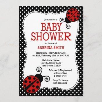 Ladybug Baby Shower Invitation