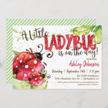 Ladybug Baby Shower Invitation, Girl Invitation
