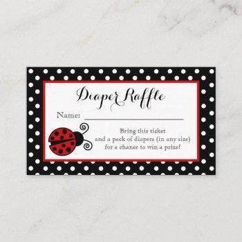 Ladybug Diaper Raffle Ticket Enclosure Card