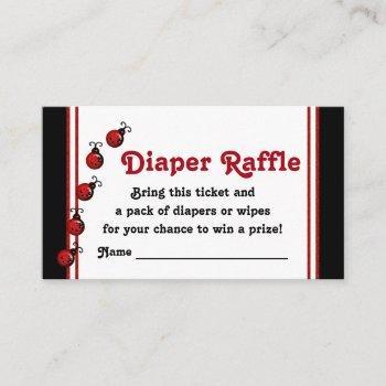 Ladybug Diaper Raffle Tickets Enclosure Card
