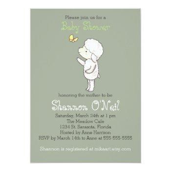 Lamb Baby Shower Invitation Cute Lamb Christian