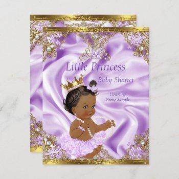 Lavender Gold Princess Baby Shower Ethnic Girl