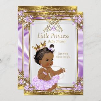Lavender Gold White Princess Baby Shower Ethnic