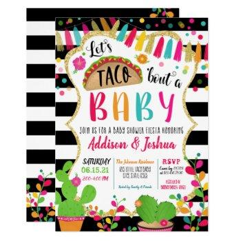 Let's Taco About A Baby Shower Invitation