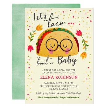 Let's Taco Bout A Baby Fiesta Baby Shower Sprinkle Invitation