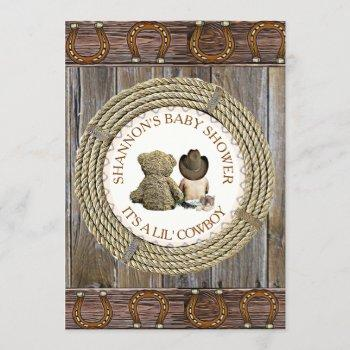 Lil' Cowboy Boy Country And Western Baby Shower