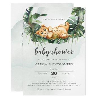 Lion Baby Shower Invitation