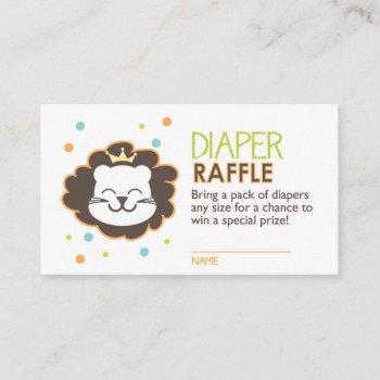 Lion Diaper Raffle Ticket Enclosure Card