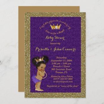 Little Afro Princess Baby Shower ,purple