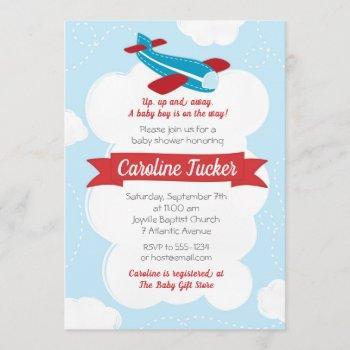 Little Aviator Airplane Baby Shower Invitation
