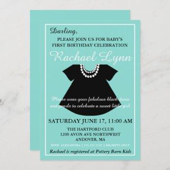 Little Black Dress Baby Girl Sprinkle Shower Invitation