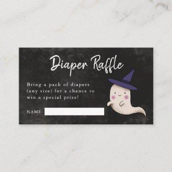 Little Boo Girl Baby Shower Diaper Raffle Enclosure Card