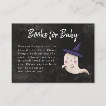 Little Boo Halloween Girl Baby Shower Book Request Enclosure Card