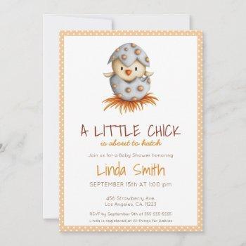 Little Chick Neutral Baby Shower Invitation
