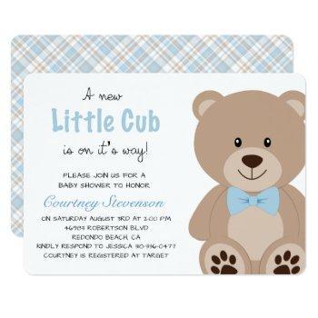 Little Cub Teddy Bear Invitation