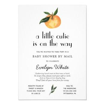 Little Cutie Is On The Way Baby Shower By Mail Invitation
