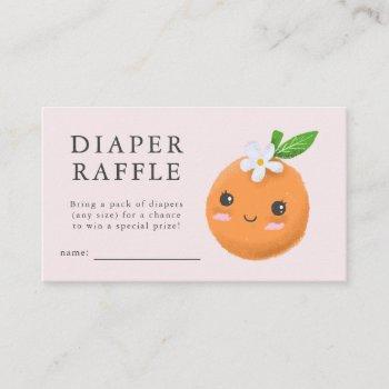 Little Cutie Pink Baby Shower Diaper Raffle Ticket Enclosure Card